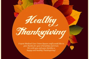 Thank you & Stay healthy! Urgent Care Clinic is open on Thanksgiving.